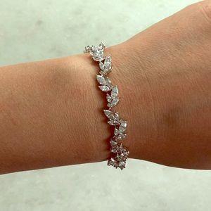 Nadri silver marquise CZ bracelet